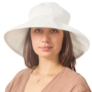 Puffin Gear Patio Linen UPF50 Sun Protection Wide Brim Classic Hat-Made in Canada
