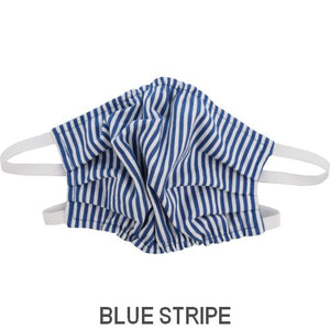 Puffin Gear Child 3 Layer Cotton Mask with Polypropylene Filter Layer-Made in Toronto Canada-Blue Stripe