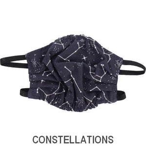 Puffin Gear Child 3 Layer Cotton Mask with Polypropylene Filter Layer-Made in Toronto Canada-Constellation