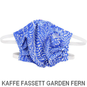 Puffin Gear Child 3 Layer Cotton Mask with Polypropylene Filter Layer-Made in Toronto Canada-Kaffe Fassett Garden Fern
