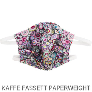 Puffin Gear Child 3 Layer Cotton Mask with Polypropylene Filter Layer-Made in Toronto Canada-Kaffe Fassett Paper Weight