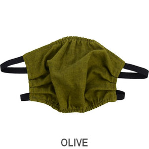 Puffin Gear Child 3 Layer Cotton Mask with Polypropylene Filter Layer-Made in Toronto Canada-Olive