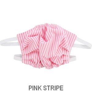 Puffin Gear Child 3 Layer Cotton Mask with Polypropylene Filter Layer-Made in Toronto Canada-Pink Stripe