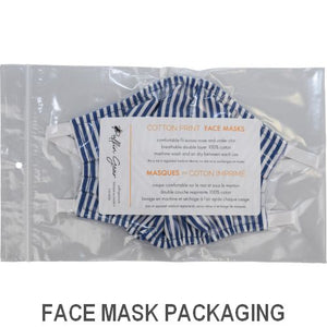 Puffin Gear Child 3 Layer Cotton Mask with Polypropylene Filter Layer-Made in Toronto Canada