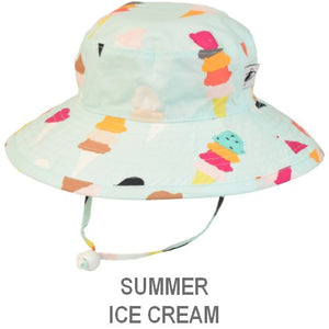 Puffin Gear Child Wide Brim Sun Protection Hat-Made in Canada-Summer-Ice Cream