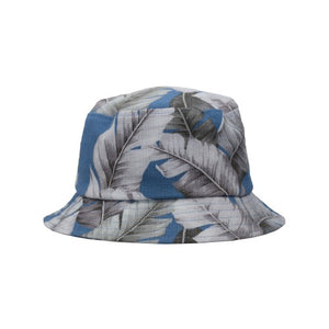 Puffin Gear Barkcloth Vintage Tropical Print UPF50 Sun Protection Bucket Hat-Made in Canada-Ocean Breeze