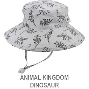 Puffin Gear Child Wide Brim Sun Protection Hat-Made in Canada-Animal Kingdom-Dinosaurs