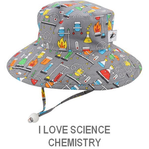 Puffin Gear Child Wide Brim Sun Protection Hat-Made in Canada-I Love Science-Chemistry