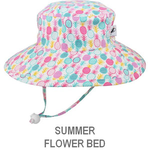 Puffin Gear Child Wide Brim Sun Protection Hat-Made in Canada-Summer-Pineapple