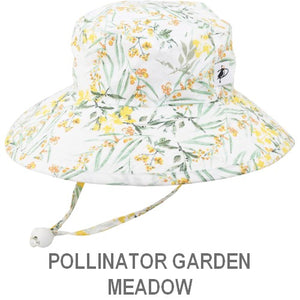 Puffin Gear Child Wide Brim Sun Protection Hat-Made in Canada-Pollinator Garden-Meadow
