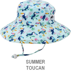 Puffin Gear Child Wide Brim Sun Protection Hat-Made in Canada-Summer-Toucan