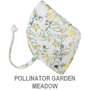 Puffin Gear Infant and Toddler Sun Protection Bonnet-Made in Canada-Pollinator Garden-Meadow