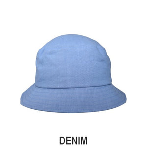 Patio Linen UPF50+ Sun Protection Bucket Hat-Patio Linen-Made in Canada-Denim