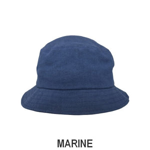 Patio Linen UPF50+ Sun Protection Bucket Hat-Patio Linen-Made in Canada-Marine