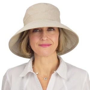 Puffin Gear Clothesline Linen Garden Hat-UPF50 Sun Protection-Made in Canada-Natural
