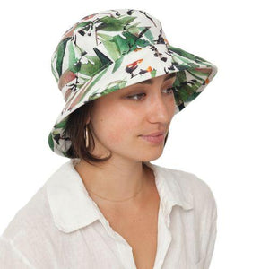 Puffin Gear Courtyard Garden Linen Sun Protection Bowler Hat-UPF50-Made in Canada-Tropical