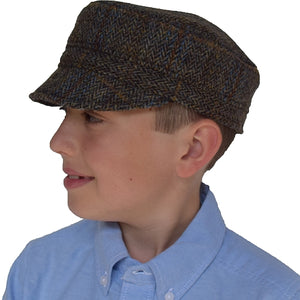 Puffin Gear Harris Tweed Child Cap - Peat Herringbone - Made in Canada