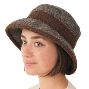 Puffin Gear Harris Tweed Ladies Derby Brimmed Hat - Made In Canada