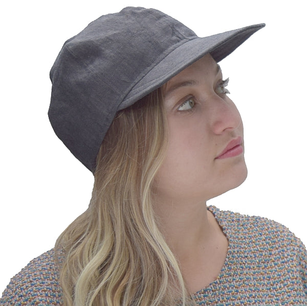 Puffin Gear Harvest Linen Cap-Steel-Made in Canada