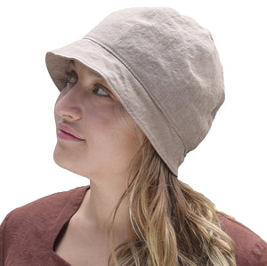 Puffin Gear Harvest Linen Cloche-Peat-Made in Canada