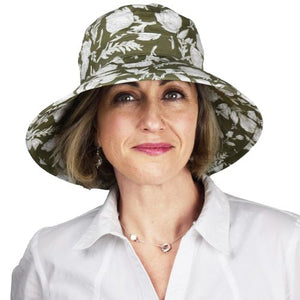 Puffin Gear I Must Have Flowers Sun Protection Garden Hat-UPF50-Made in Canada