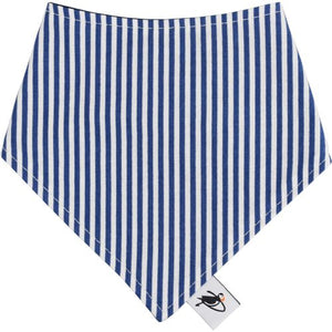 Puffin Gear Infant and Toddler Drool Bib - Blue Stripe