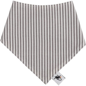Puffin Gear Infant and Toddler Drool Bib - Natty Grey Stripe