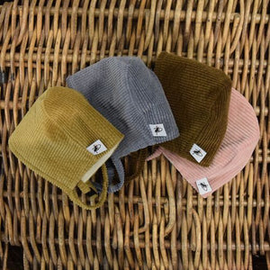 Corduroy Fall Bonnet