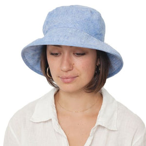 Puffin Gear Linen Chambray Bowler Hat-UPF50 Sun Protection-Made in Canada