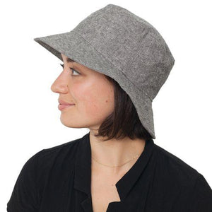 Puffin Gear Linen Tweed Sun Protection Crusher Hat-UPF50-Made in Canada-Black