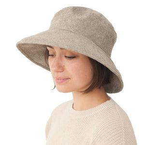 Puffin Gear Linen Tweed Sun Protection Garden Hat-UPF50-Olive-Made in Canada