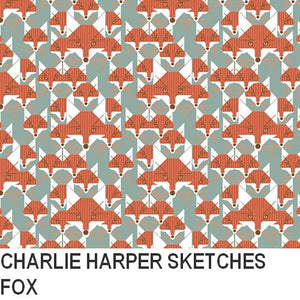 Puffin Gear Organic Cotton-Charlie Harper Sketches-Fox