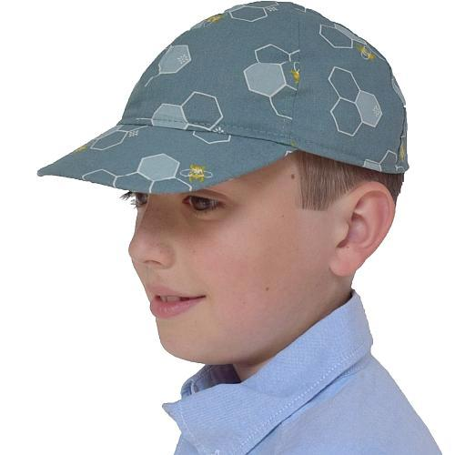 Puffin Gear Organic Cotton Harvest Child Cap - Honeycomb - Made in Canada