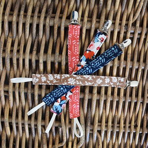 Puffin Gear Organic Cotton Double Gauze Harvest Pacifier Clips - Made in Canada