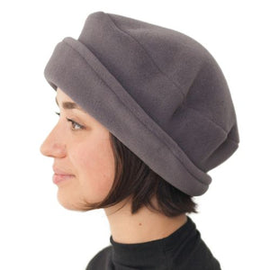 Puffin Gear Ladies Polartec Fleece Rolled Brim Hat-Made in Canada
