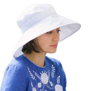 Puffin Gear Summer Breeze Linen Sun Protection Classic Hat-UPF50-Made in Canada-White