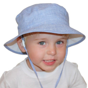 Puffin Gear Summer Day Linen Child Sun Protection Camp Hat - Made in Canada