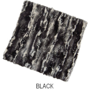 Puffin Gear Lodge Faux Fur Neck Warmer - Black - Made in Canada