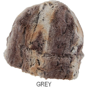 Puffin Gear Child Lodge Faux Fur Hat - grey - Made in Canada