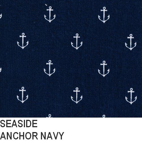 Puffin Gear Seaside Navy Anchor Print