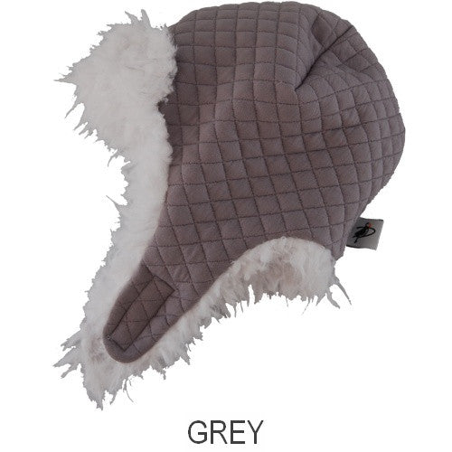 Puffin Gear Alpine Quilt Snow Helmet-Grey-Made in Canada