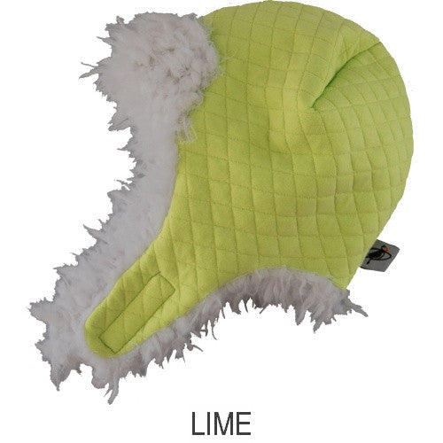 Puffin Gear Alpine Quilt Snow Helmet-Lime-Made in Canada