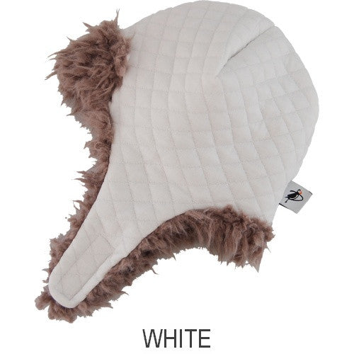 Puffin Gear Alpine Quilt Snow Helmet-White-Made in Canada
