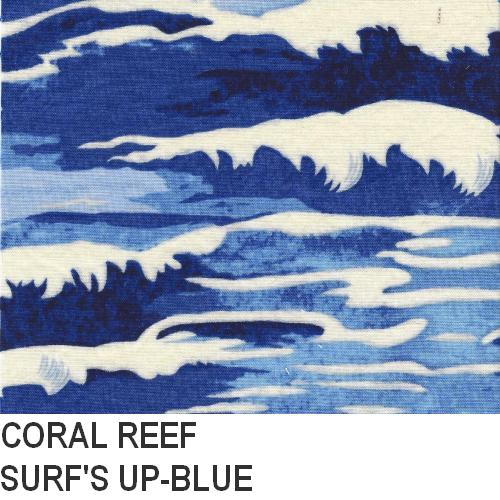 Puffin Gear Coral Reef Blue Surf Print
