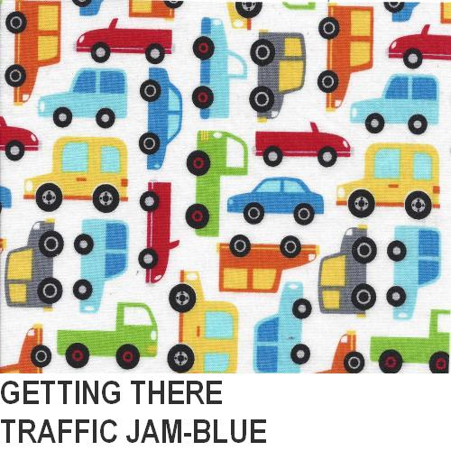 Puffin Gear Getting There Blue Traffic Jam Print
