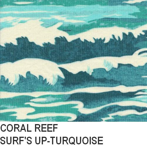 Puffin Gear Coral Reef Turquoise Surf Print
