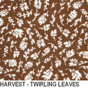 Puffin Gear Organic Cotton Double Gauze Harvest - Twirling Leaf - Made in Canada