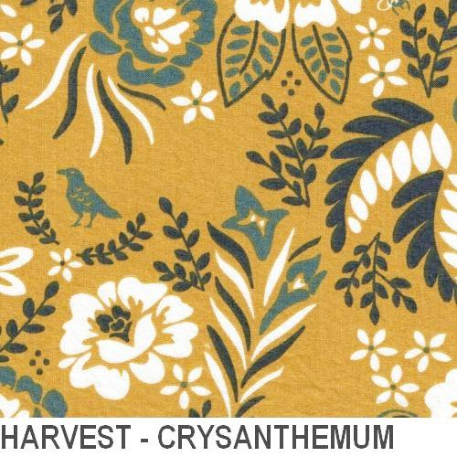 Puffin Gear Organic Cotton Poplin Harvest - Chrysanthemum - Made in Canada