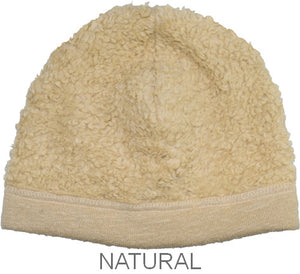 Puffin Gear Organic Cotton Sherpa Beanie-Natural-Child and Infant-Made in Canada