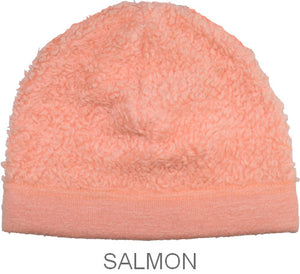 Puffin Gear Organic Cotton Sherpa Beanie-Salmon-Child and Infant-Made in Canada